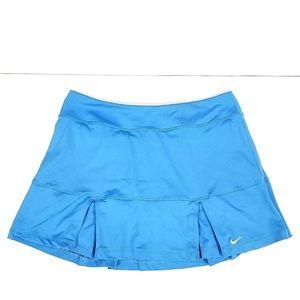 Nike Womens Dri Fit Blue Pleated Tennis M skort